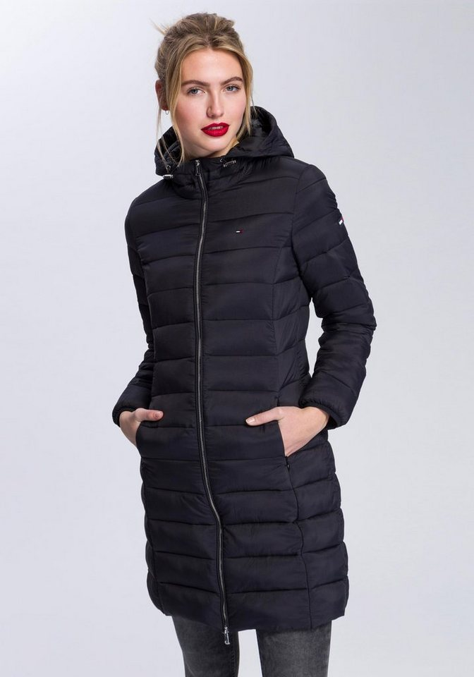 Tommy Jeans Mantel »TJW BASIC QUILTED HOODED COAT« | OTTO