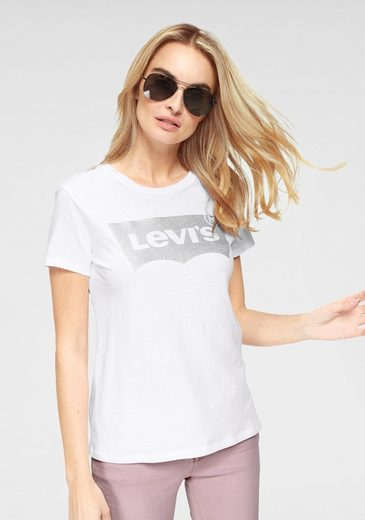 levi 39 s t shirt batwing logoprint aus reiner weicher. Black Bedroom Furniture Sets. Home Design Ideas
