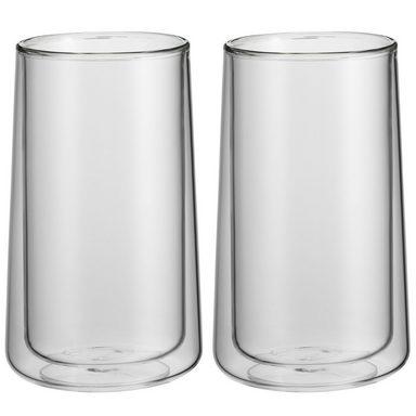 WMF Latte Macchiato Glas, 2-tlg, doppelwandig, hitzebeständig »Coffee Time«