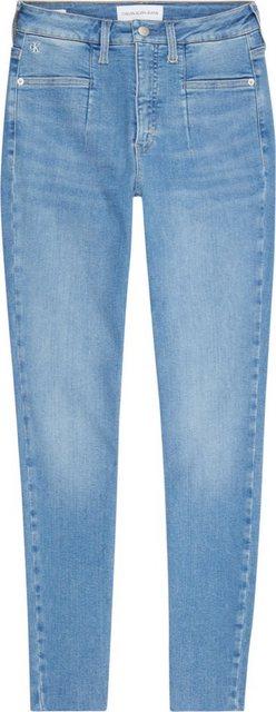 Hosen - Calvin Klein Jeans Skinny fit Jeans »Mid Rise Skinny Ankle« mit modischen Eingrifftaschen CK Logo Stickerei ›  - Onlineshop OTTO