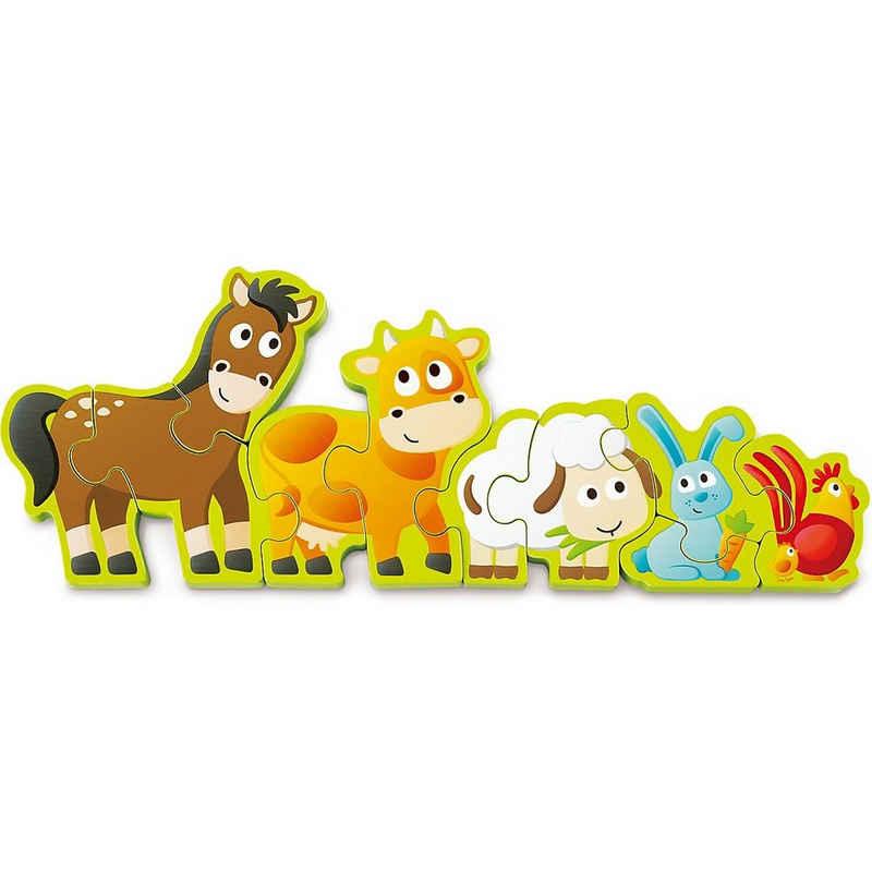 Hape Steckpuzzle »Zahlen & Farmtiere«, Puzzleteile