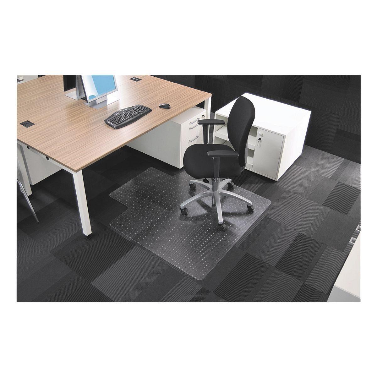 RS Office Products Bodenschutzmatte 120x130 cm, Rechteck mit Lippe, für nie... »Rollsafe«