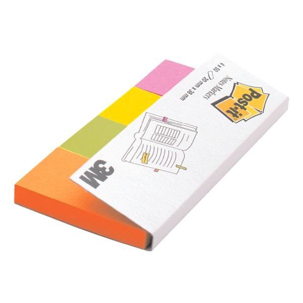 Post-it Notes Markers Haftstreifen 38 x 20 mm »Page Marker 670-4N«