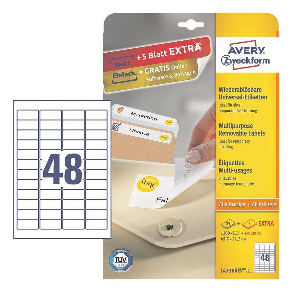 Avery Zweckform 1200er-Pack Universal Klebeetiketten »L4736REV-25«