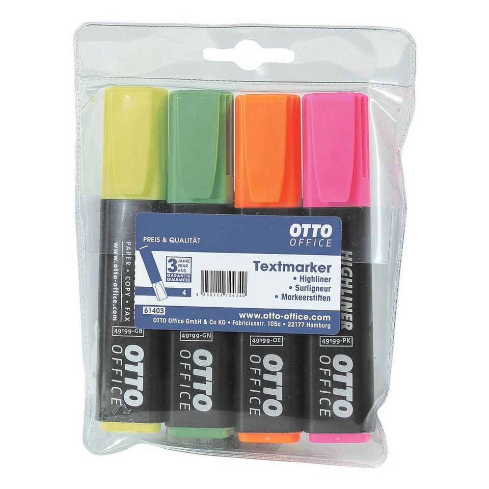 OTTO Office Standard 4er-Pack Textmarker »Highliner«