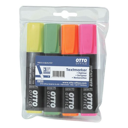 OTTOOFFICE STANDARD 4er-Pack Textmarker »Highliner«
