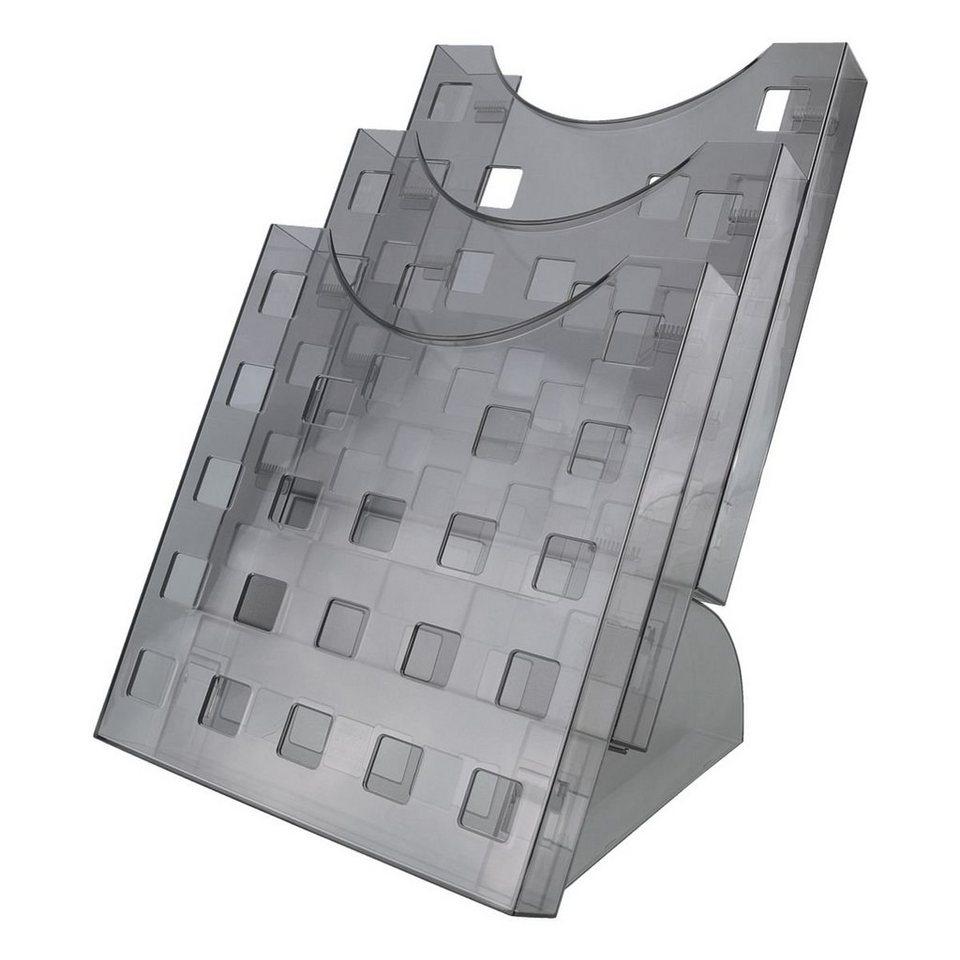 Helit Prospekthalter-Set in grau-transparent