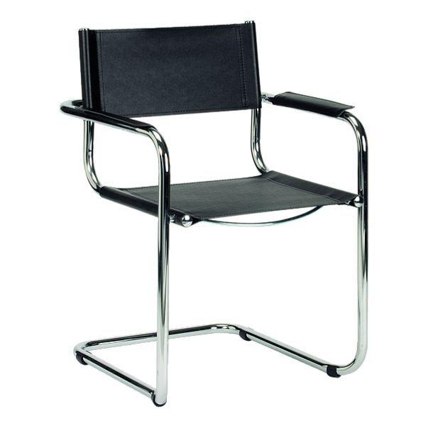 Nowy Styl 4er-Set Besucherstühle »Delta« in schwarz