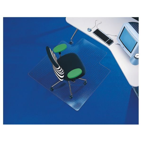 Rs Office Products Bodenschutzmatte 120x130 Cm Form L Fuer Mittelflorigen Rollt Schuetzt Transparentformatz