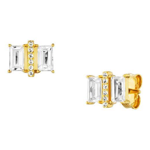 CAÏ Ohrstecker »925/- Sterling Silber vergoldet mit Weißtopas«