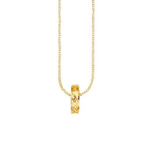 CAÏ Anhänger mit Kette »925/- Sterling Silber vergoldet«