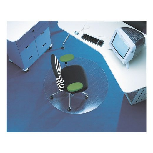RSOFFICE Bodenschutzmatte, Ø 90 cm rund, für niederflorigen Teppichbod »Rollsafe«