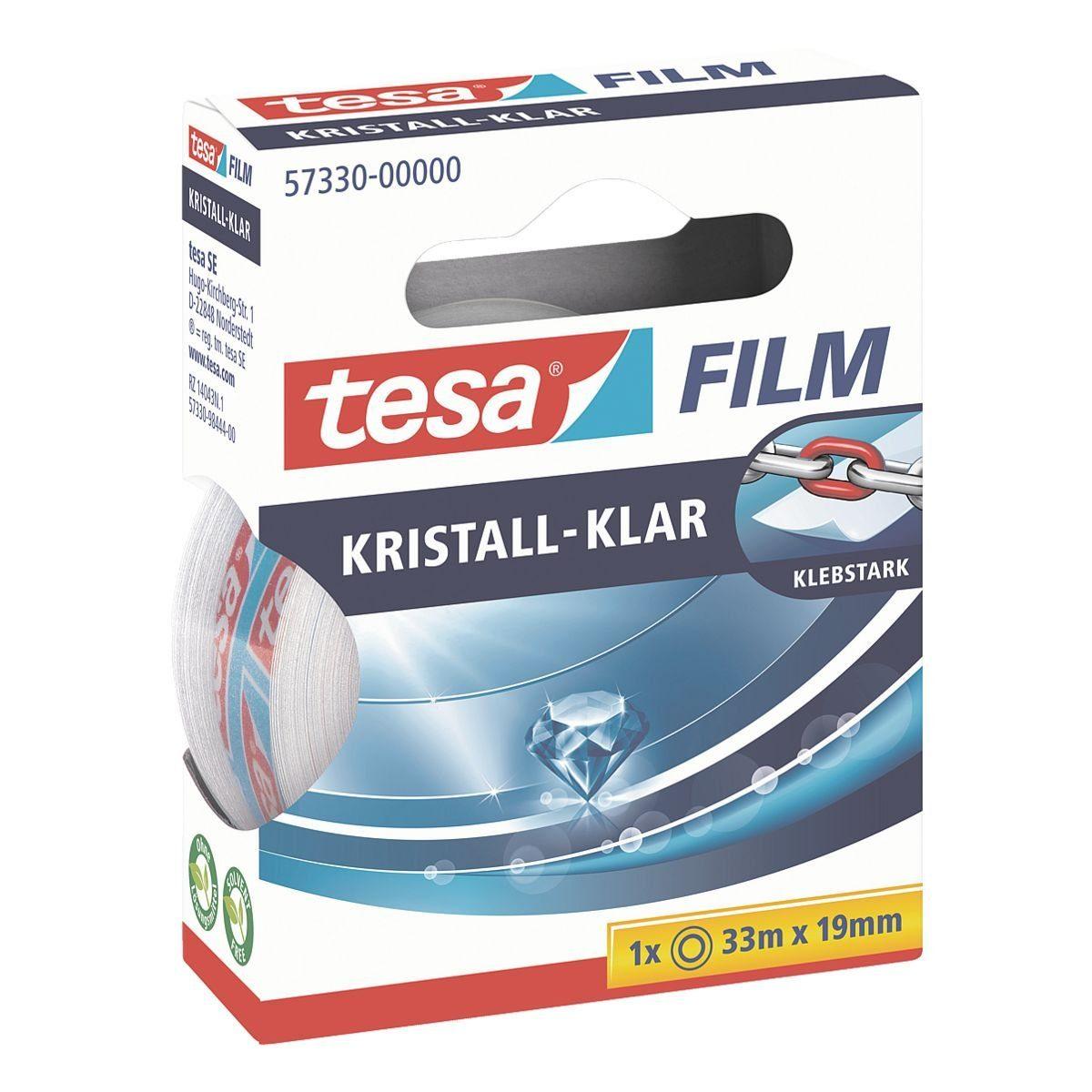 Tesa Klebeband transparent, 19 mm/33 m (B/L) »kristall-klar«