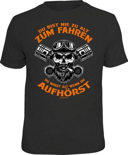 Rahmenlos T-Shirt mit coolem Biker-Print