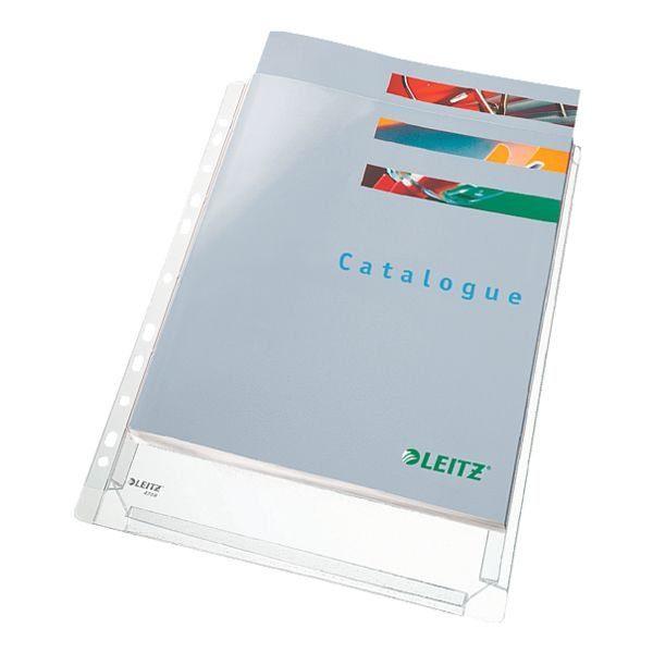 Leitz Prospekthüllen A4 genarbt - 5 Stück »Maxi«