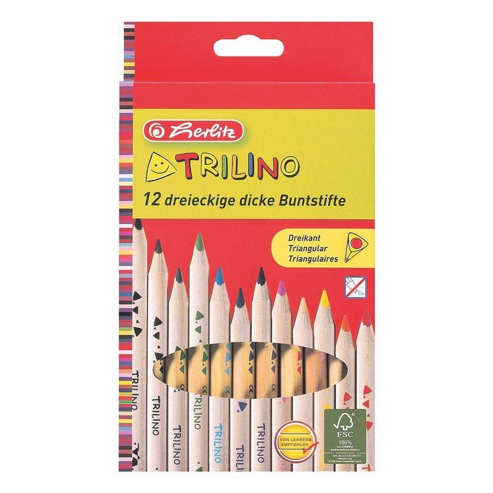 Herlitz 12er-Pack Holz-Buntstifte »Trilino«