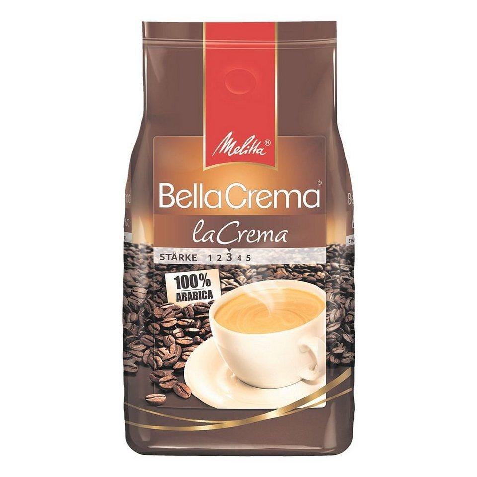 melitta kaffee ganze bohnen bella crema 1000 g la crema. Black Bedroom Furniture Sets. Home Design Ideas