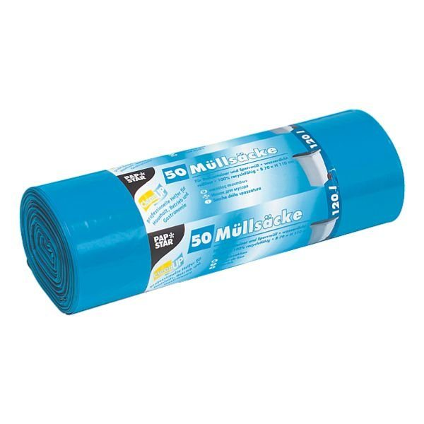 PAPSTAR 50 Schwerlast-Müllsäcke 120 L blau