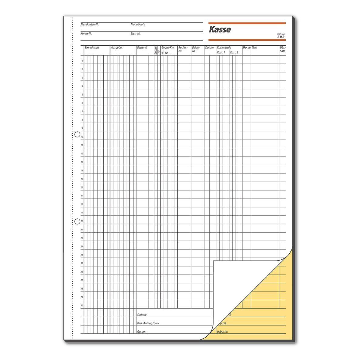 Sigel Formularbuch KG429 »Kassenbuch (Steuerschiene 300)«