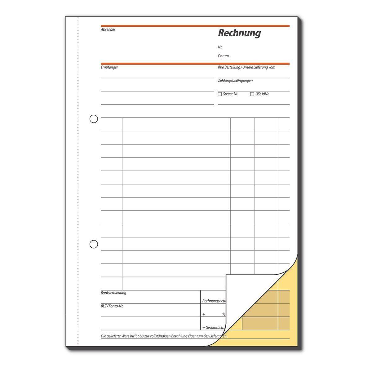 Sigel Formularbuch SD031 »Rechnung«