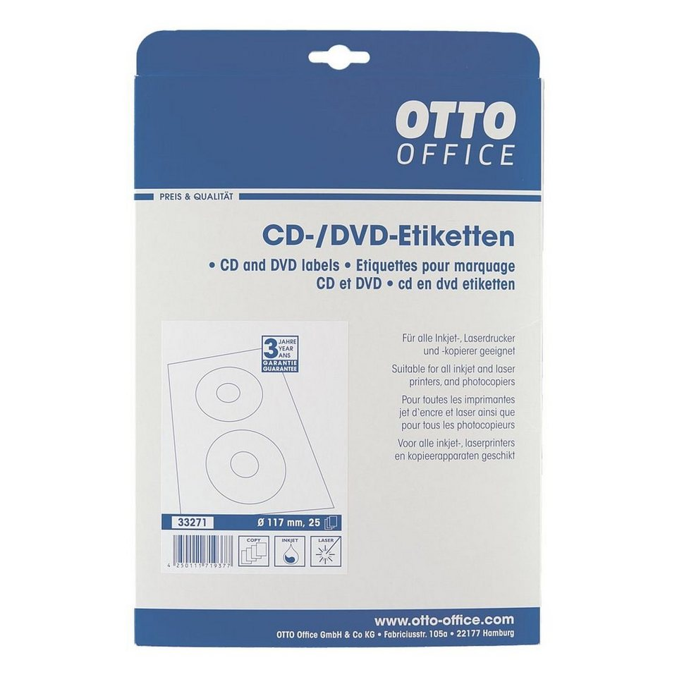 OTTO Office Standard 50er-Pack CD-/DVD-Label