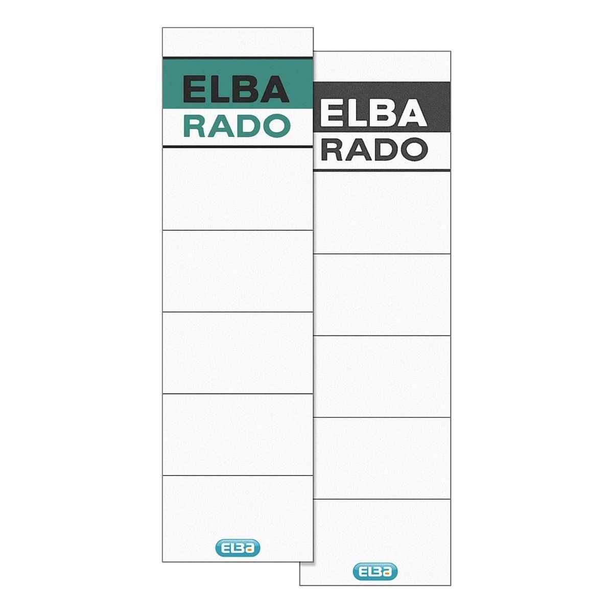 Elba Rückenschilder »rado-lux brillant« zum Einstec...