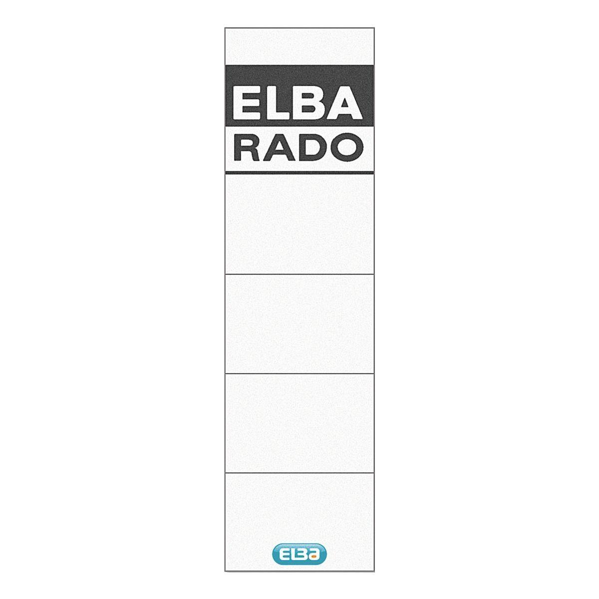 Elba Rückenschilder »rado-plast« zum Einstecken