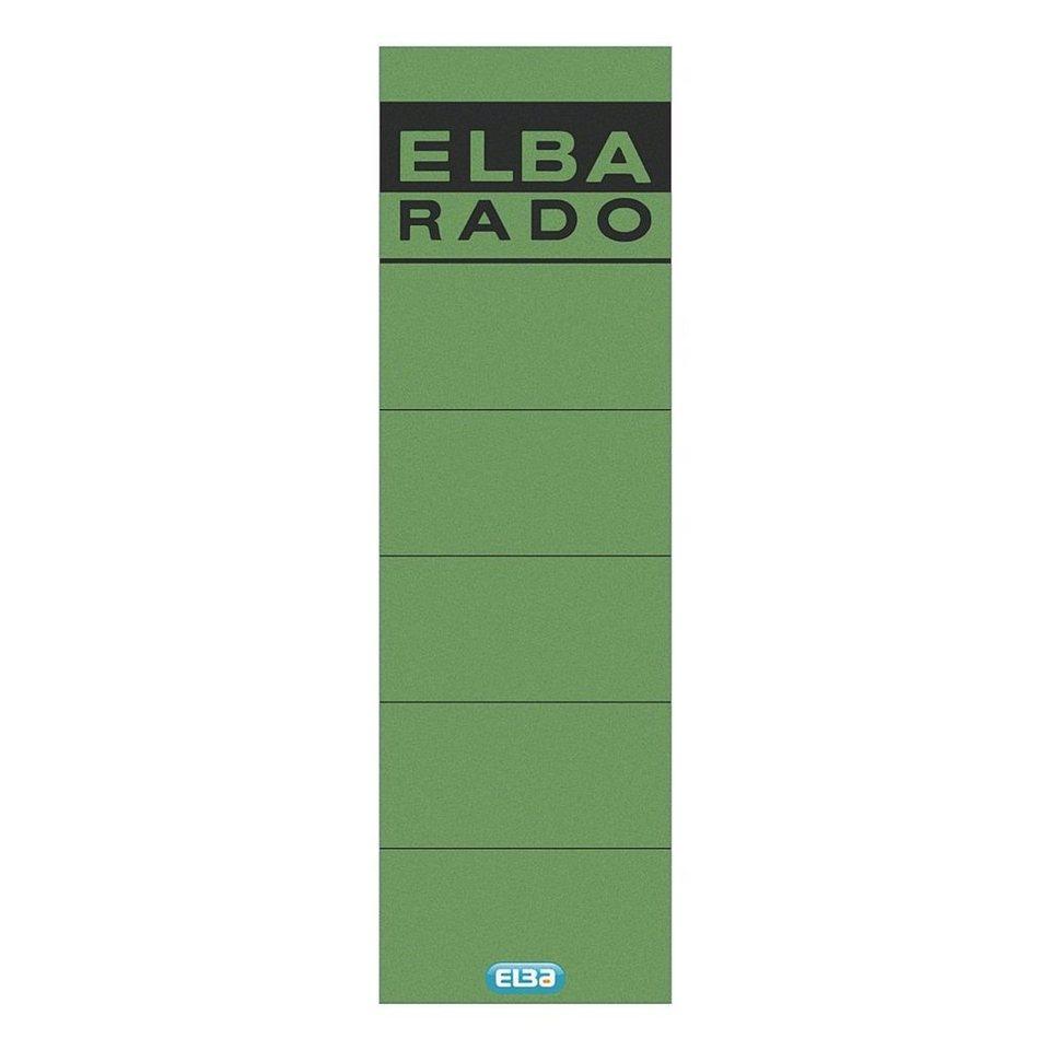 Elba Selbstklebende Rückenschilder »rado« in grün
