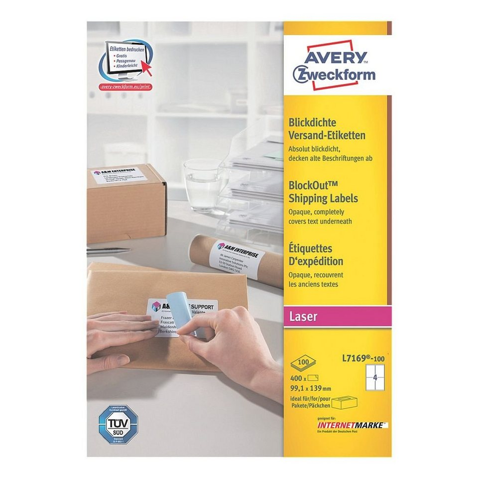 Avery Zweckform 400er-Pack Adressaufkleber »L7169-100«