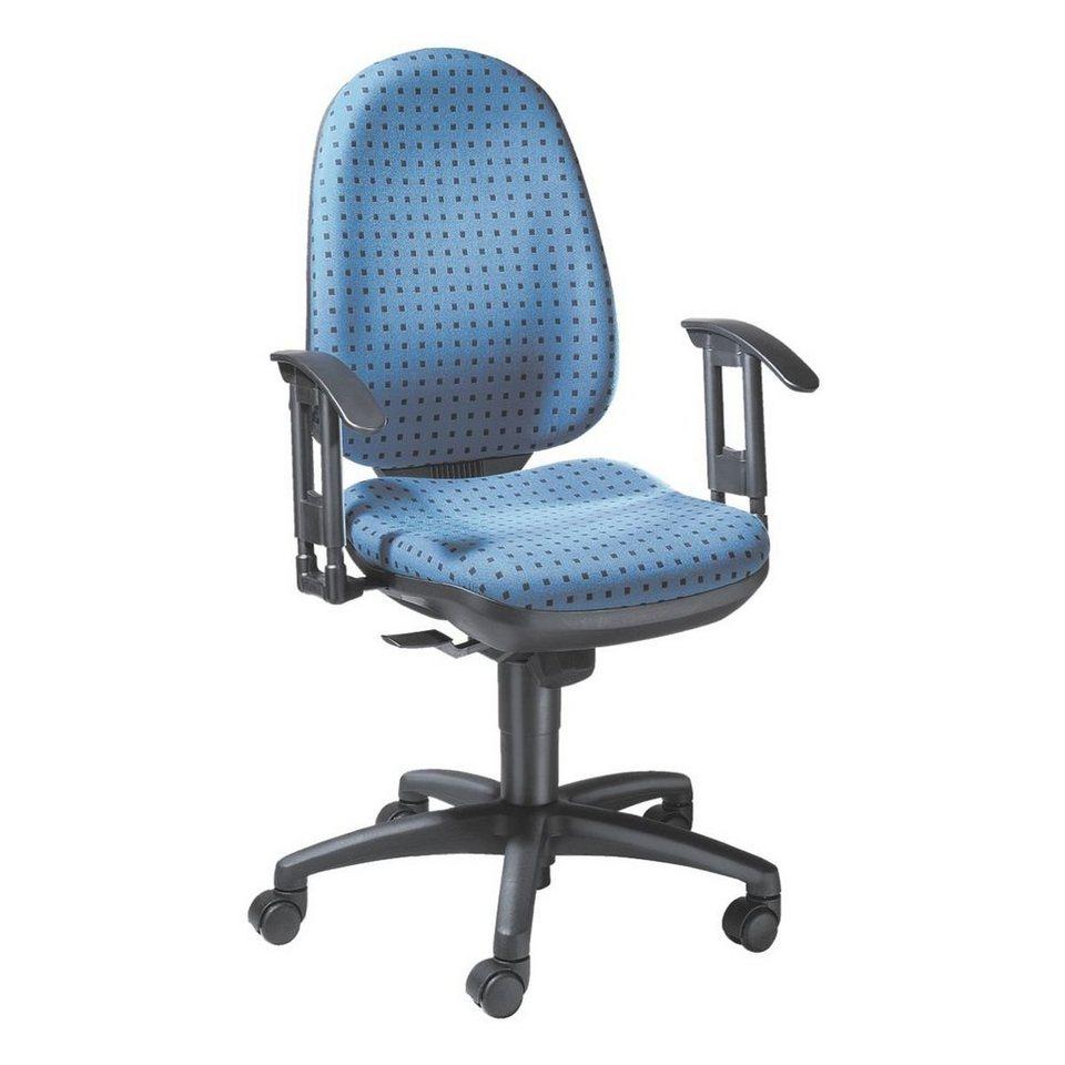 Topstar Bürostuhl »Synchro Pro 4« ohne Armlehnen in blau/punkte schwarz
