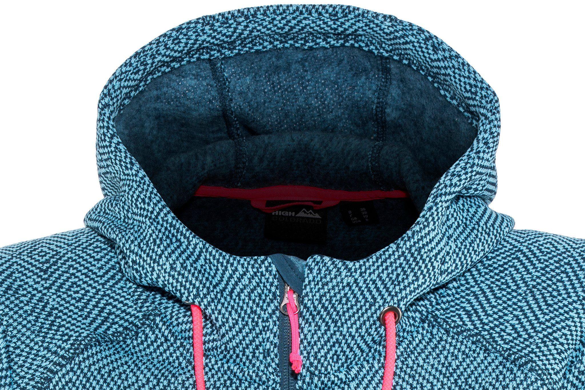 High Colorado Outdoorjacke »bergamo Strickfleece Jacke Damen« Online Kaufen