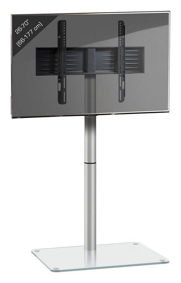 VCM TV Standfuß ´´Alan´´ Alu / Glas | Wohnzimmer > TV-HiFi-Möbel > Ständer & Standfüße | Glas - Stahl - Sicherheitsglas - Metall | VCM