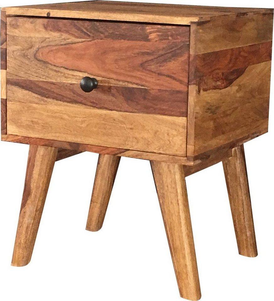 kawola beistelltisch aus massivholz mit schublade gana. Black Bedroom Furniture Sets. Home Design Ideas