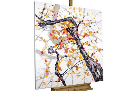 KUNSTLOFT Gemälde »Orangenblüten im Sonnenschein«, handgemaltes Bild auf Leinwand