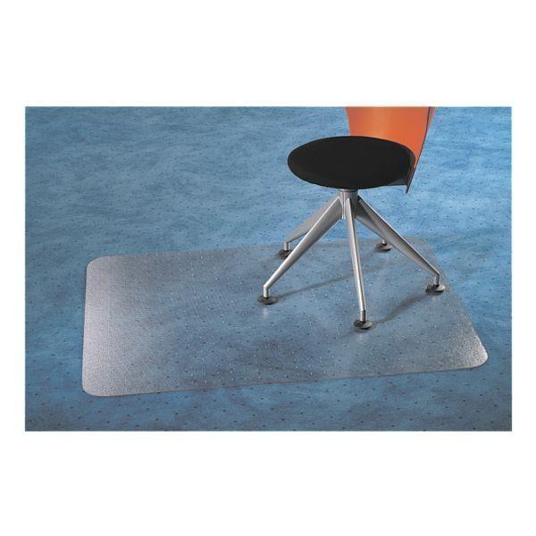 Floortex Bodenschutzmatte 120x75 cm rechteckig für Teppichboden