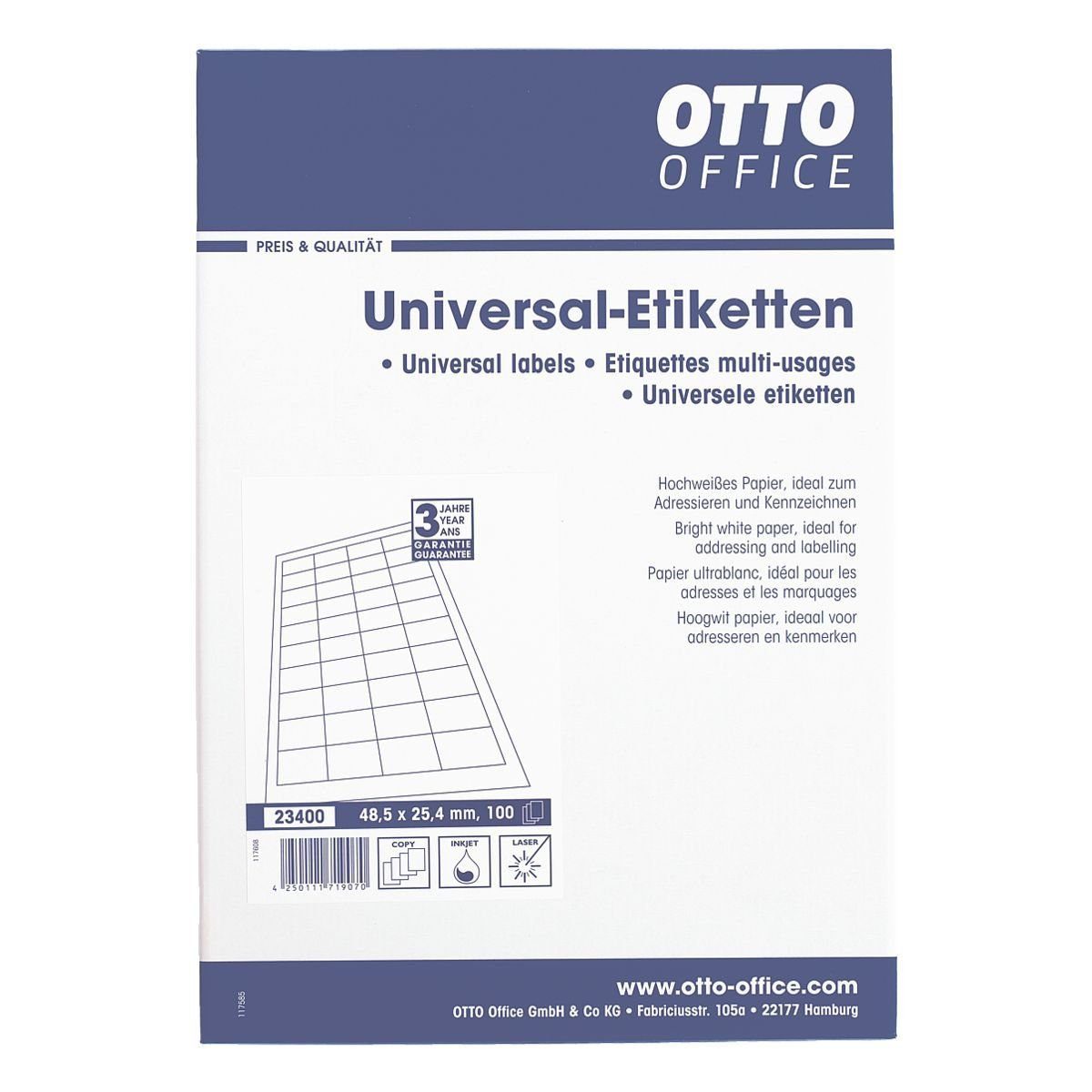 OTTO Office 4000er-Pack Universal Klebeetiketten