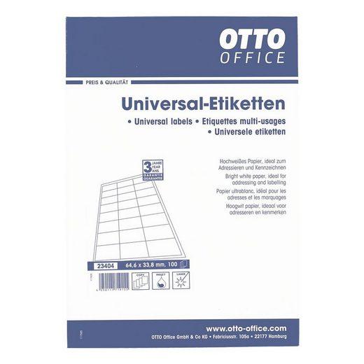 OTTOOFFICE STANDARD 2400er-Pack Universal Klebeetiketten - C6 mit Rand