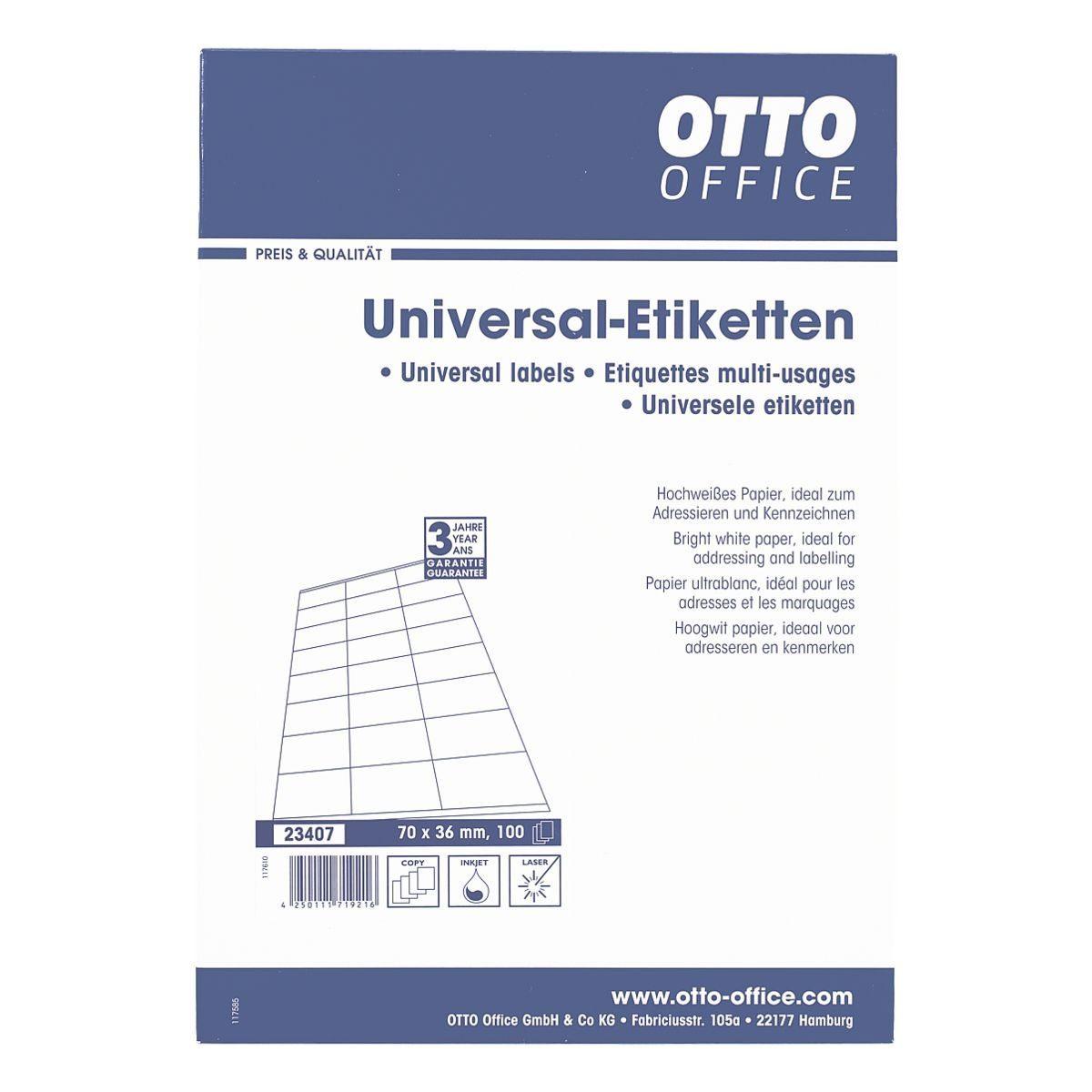 OTTO Office 2400er-Pack Universal Klebeetiketten