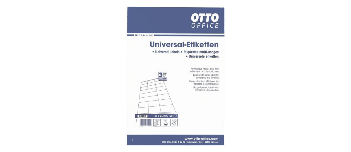 OTTO Office Standard 2400er-Pack Universal Klebeetiketten