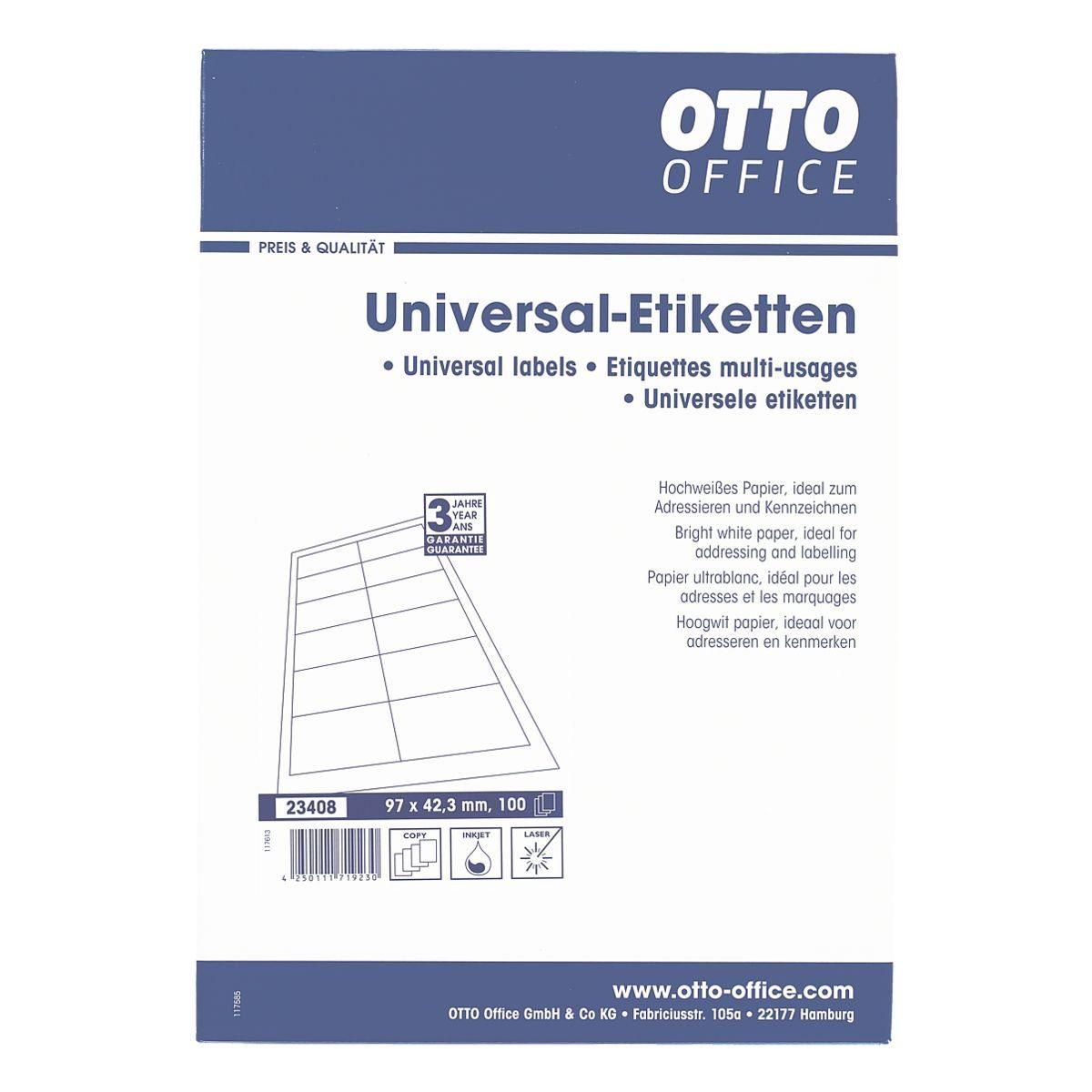OTTOOFFICE STANDARD 1200er-Pack Universal Klebeetiketten