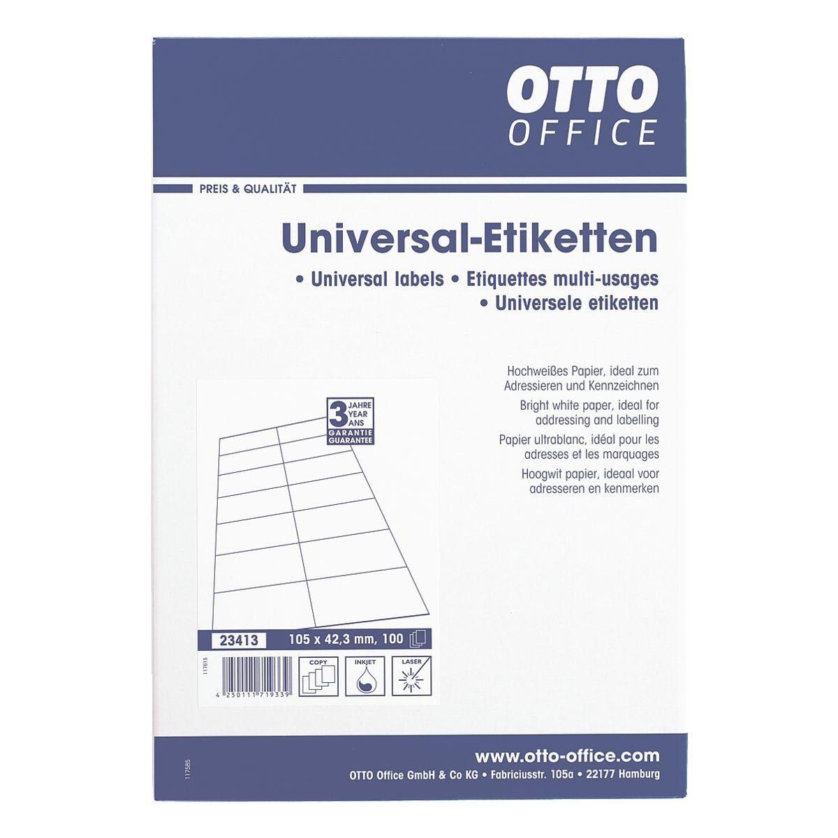 OTTO Office Standard 1400er-Pack Universal Klebeetiketten