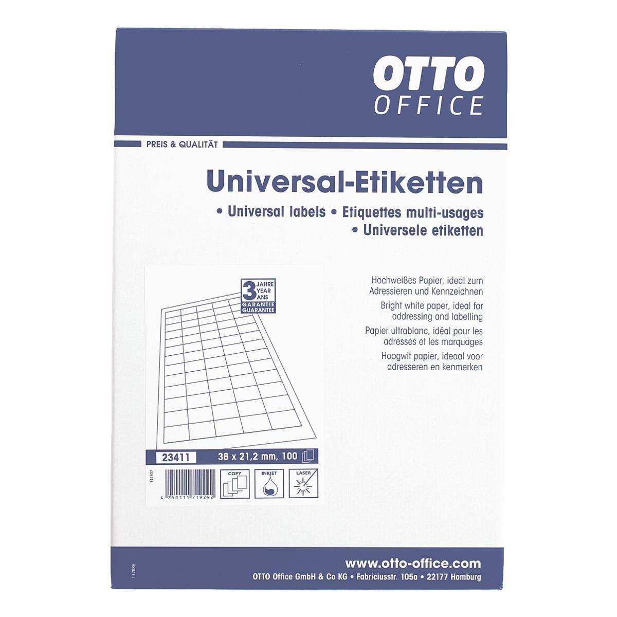 OTTO Office 6500er-Pack Universal Klebeetiketten