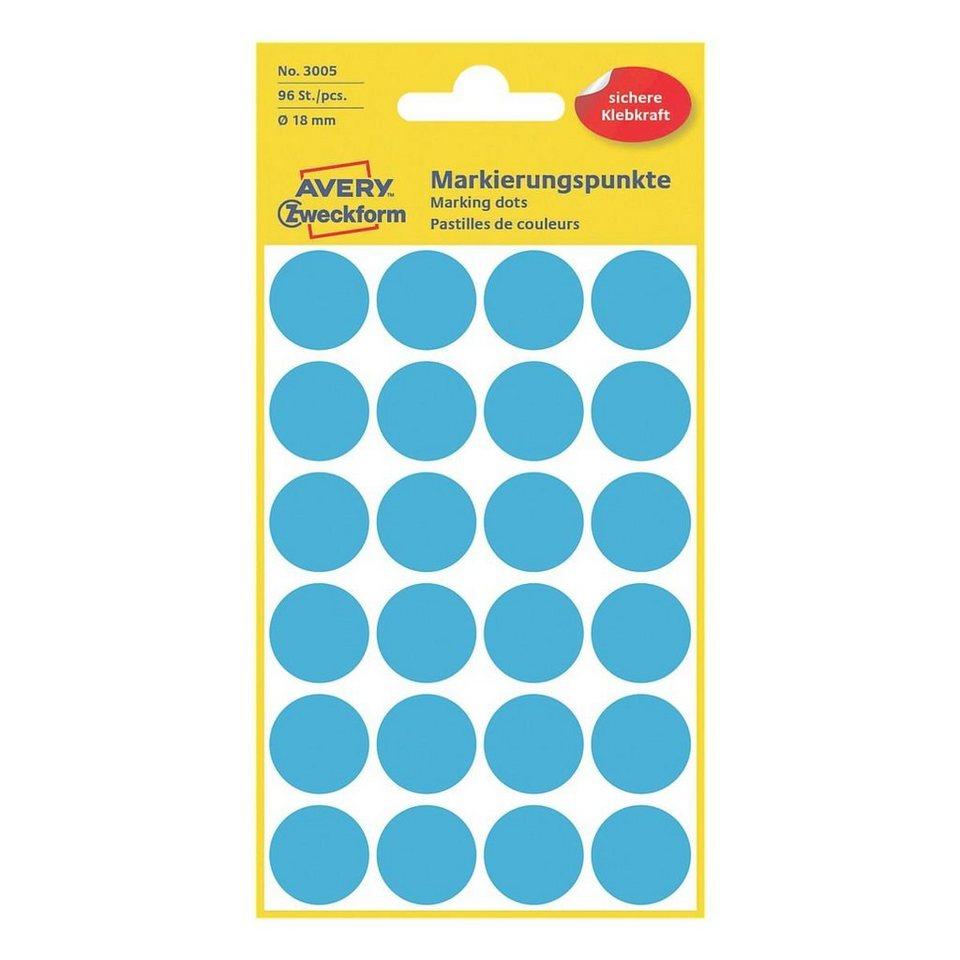 Avery Zweckform Markierungspunkte in blau