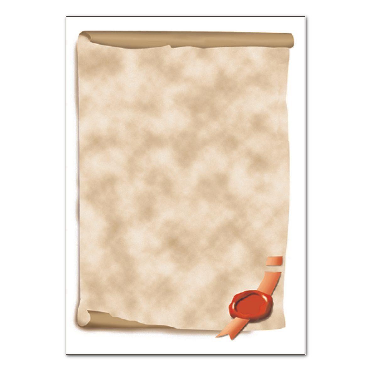 Sigel Motivpapier »Urkundenrolle«