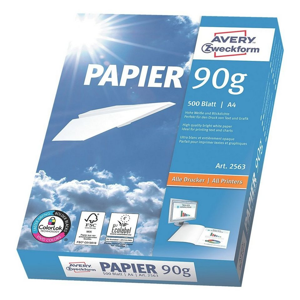 Avery Zweckform Inkjet-/Laser-/Kopierpapier