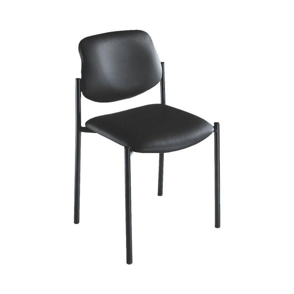 Nowy Styl 4er-Set Besucherstühle »Quad« in schwarz