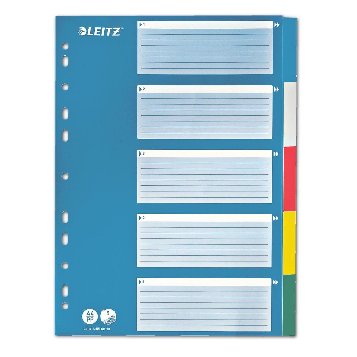 Leitz Kunststoffregister 5-teilig blanko A4 »1255«