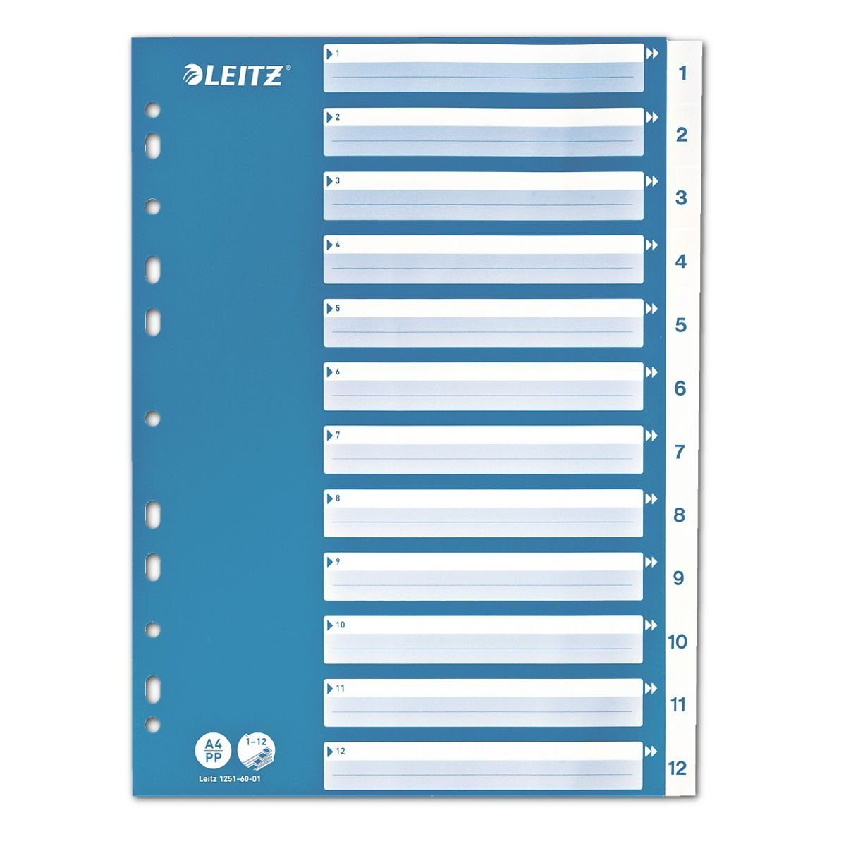 Leitz Kunststoffregister 1-12 A4 »1251«
