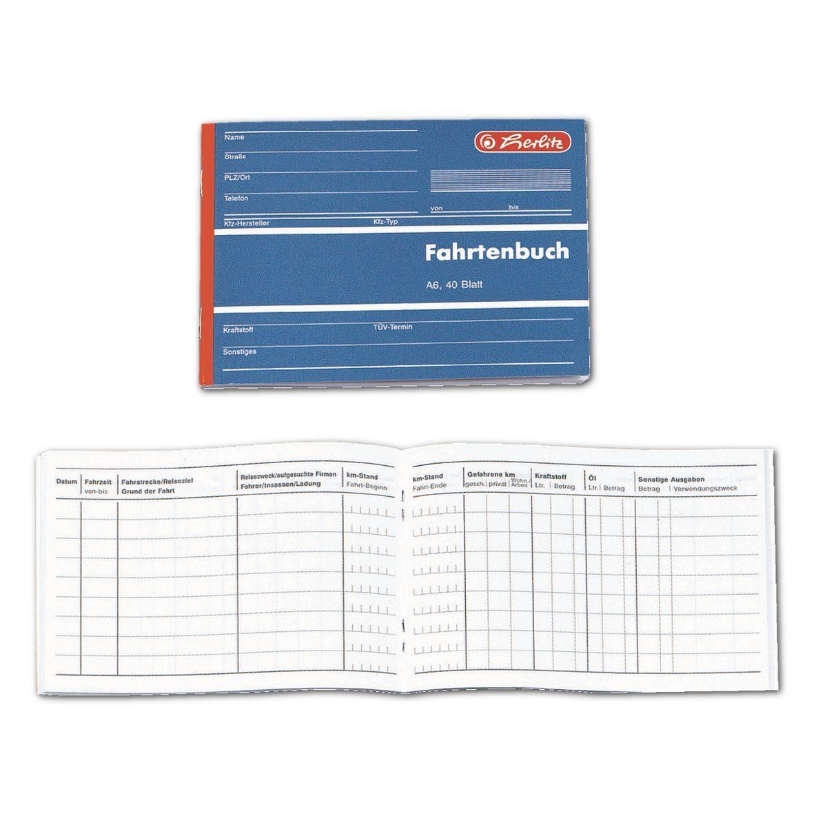 Herlitz Formularbuch »Fahrtenbuch«