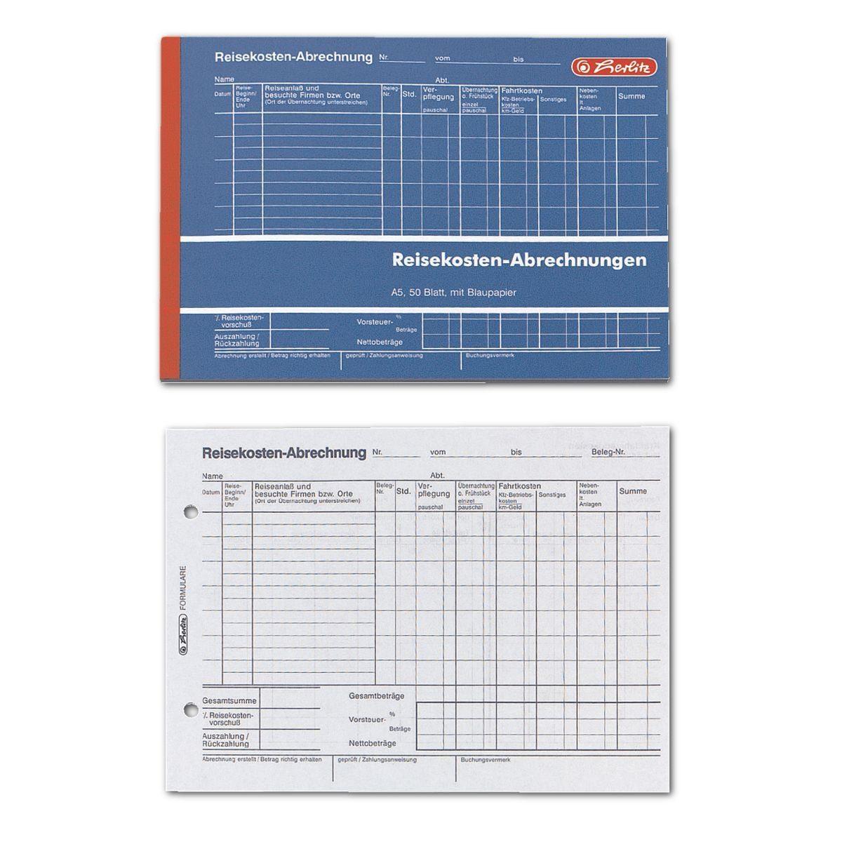 Herlitz Formularbuch »Reisekostenabrechnung«